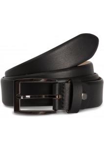 Cinturón clásico ajustable con bordes redondeados.