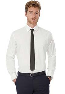 Camisa Black Tie stretch de manga larga hombre