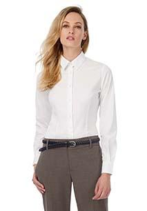 Camisa Black Tie stretch manga larga mujer