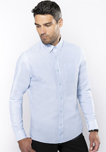 CAMISA OXFORD LAVADA MANGA LARGA