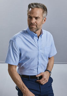 Camisa Oxford manga corta hombre