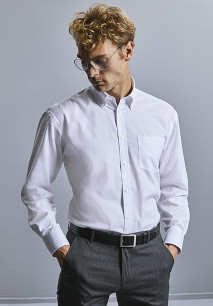 Camisa clásica Non-Iron manga larga hombre