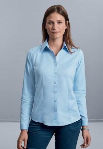 Camisa Espiga manga larga mujer