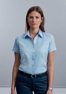 Camisa Espiga manga corta mujer