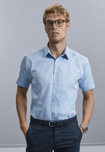 Camisa Espiga manga corta hombre
