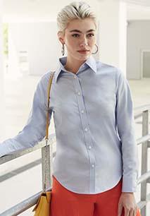 Camisa Oxford manga larga mujer (65-002-0)