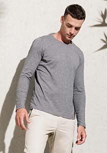 Camiseta de algodón orgánico de manga larga