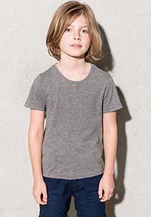 Camisetas algodón orgánicoManga Corta Cuello Redondo para Niños