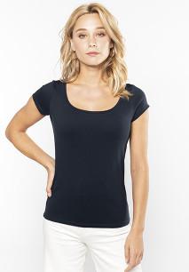 Camiseta cuello barco mujer