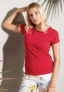 Camiseta de algodón orgánico de mujer