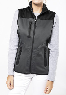 CHALECO SOFTSHELL BICOLOR MUJER