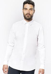 Camisa popelina manga larga hombre
