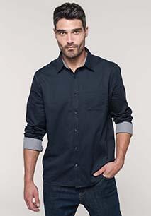 Camisa de algodón Nevada de manga larga para hombre