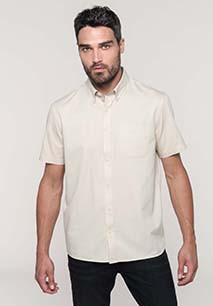 Camisa de algodón Ariana de manga corta para hombre