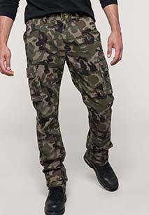 Pantalón multibolsillos para hombre