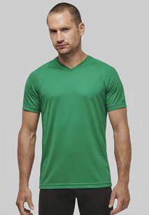 Camiseta de deporte cuello de pico hombre