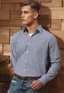 Camisa «Vichy» microcuadros hombre