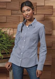 Camisa «Vichy» microcuadros mujer
