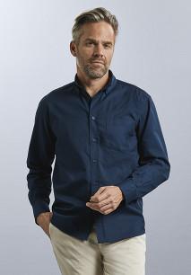 Camisa de Sarga manga larga hombre