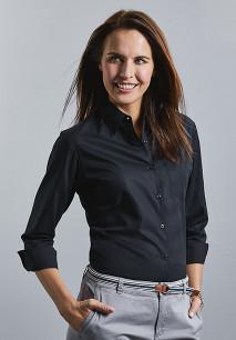 Camisa Popelina de algodón puro manga larga mujer