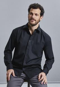 Camisa Popelina de algodón puro manga larga hombre