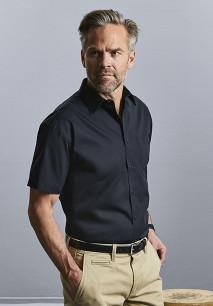 Camisa Popelina de algodón puro manga corta hombre