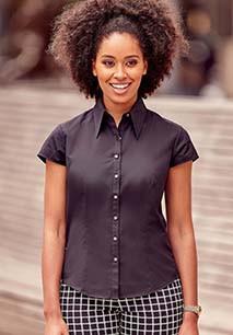 Camisa Tencel manga corta mujer