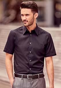 Camisa Tencel manga corta hombre