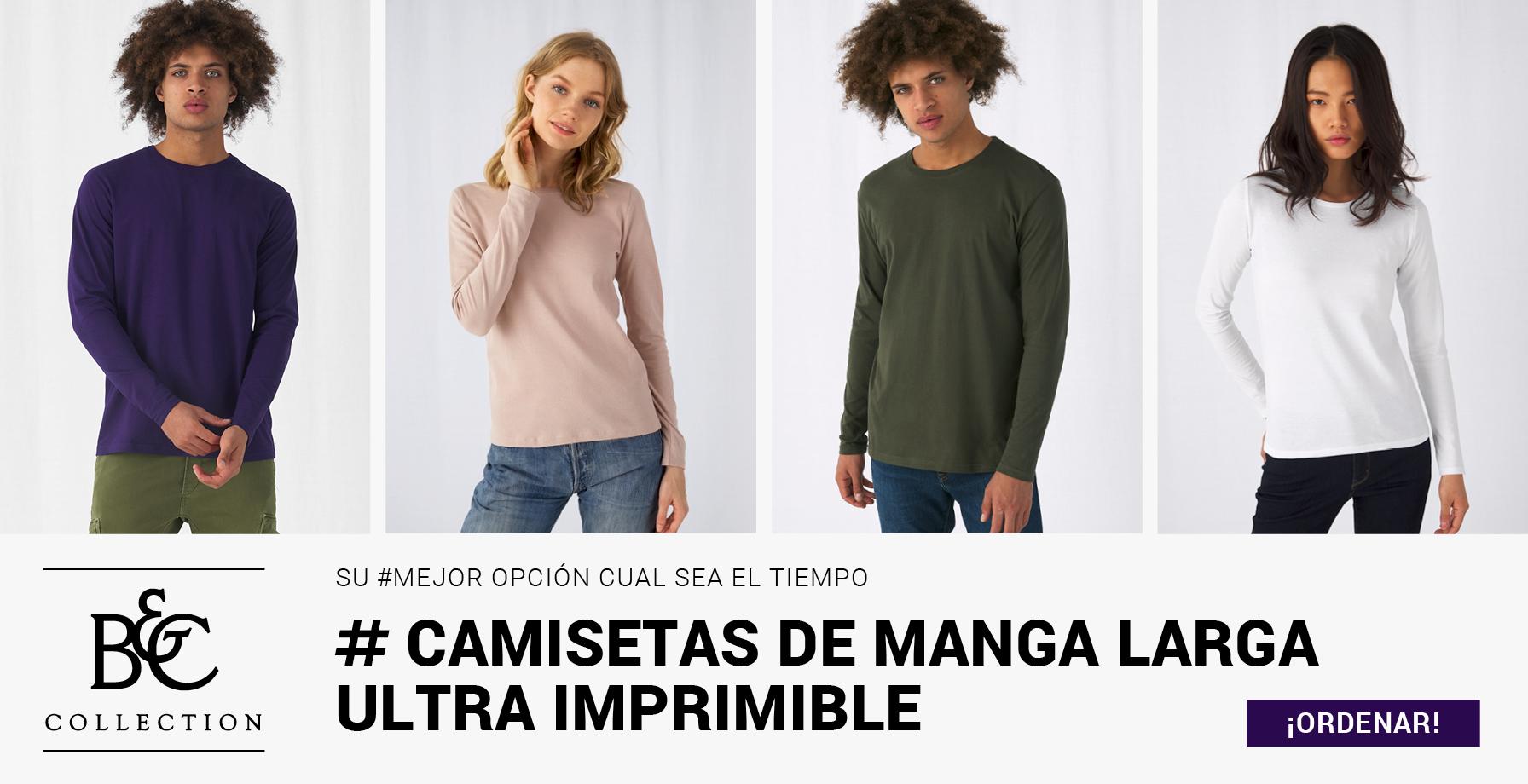 B&C - CAMISETAS DE MANGA LARGA
